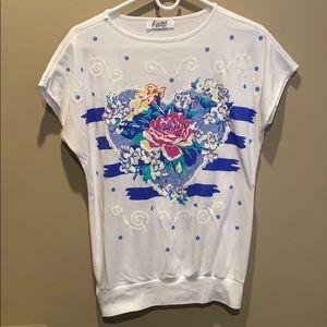 Vintage Floral Heart Shirt
